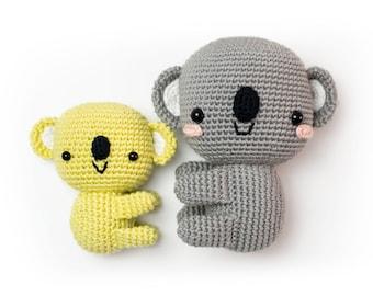 Mini and Maxi amigurumi KOALA BEARS | Crochet PDF pattern | 2 written patterns and step by step images