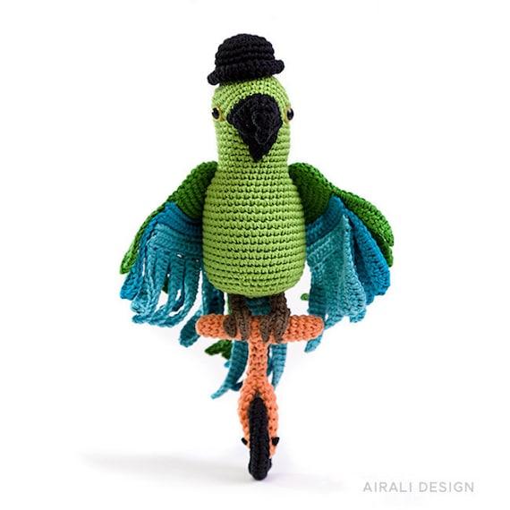 Pedro il pappagallo | Motivi per uncinetto, Drago all'uncinetto ... | 570x570