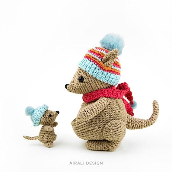 Kangaroo crochet pattern, crochet pattern, crochet kangaroo ...   570x570