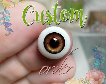 Reborn Doll BJS SD Baby Doll Supplies 200mm Long 6mm Wide Eyelashes  New
