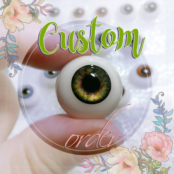Realistic pair of EYEs high quality, different colors and any sizes, for BJD doll or polymer clay dolls, reborn, airdry and silicon dolls