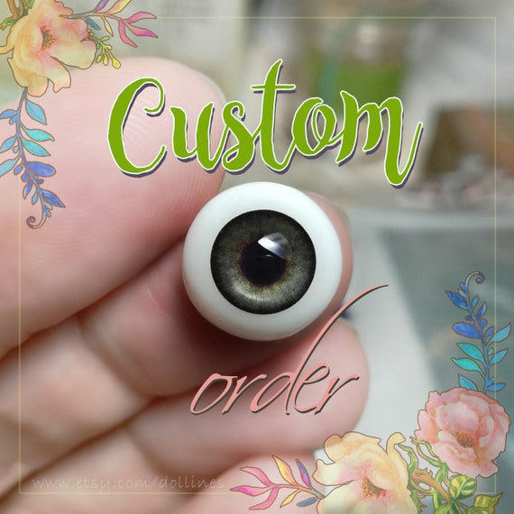 Gray doll EYES 6mm, 8mm, 10mm, 12mm, 14mm for BJD dolls, dolls of polymer clay, airdry clay, babydoll, reborn, toys etc. For CUSTOM order