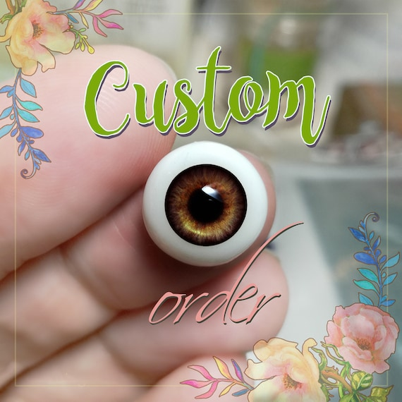 Brown doll pair of EYEs 6mm,8mm,10mm,12mm,14mm for BJD dolls, dolls of polymer clay airdryclay babydoll toys jewerlys & other.CUSTOM order