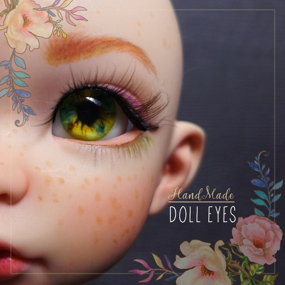 Sea Dune real inner volume pair of EYEs 12/7mm for BJD dolls, single copy. In stock, ready to ship