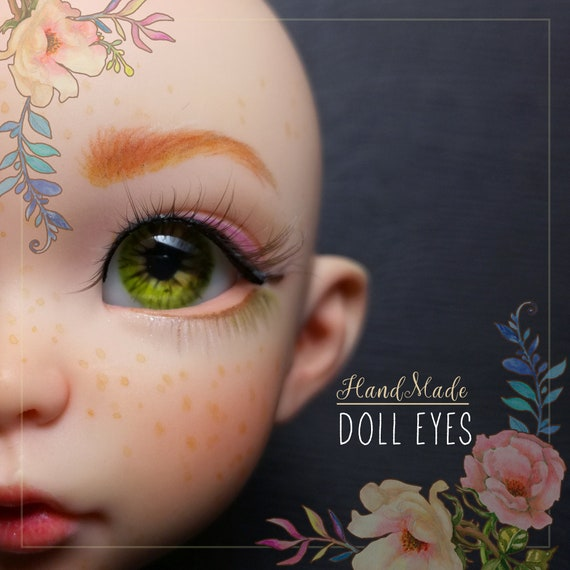 Real Moss doll pair eyes with real inner volume 12/7mm for BJD dolls, single copy. In stock, ready to ship
