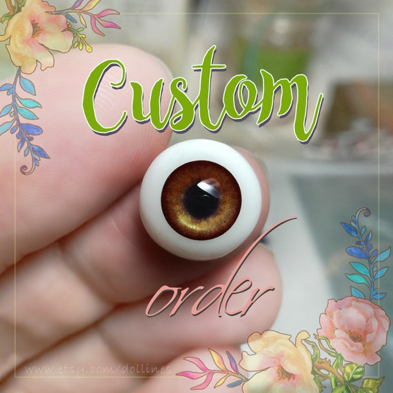 Brown doll EYES 6mm,8mm,10mm,12mm,14mm for BJD dolls, dolls of polymer clay airdryclay babydoll toys jewerlys & other. For CUSTOM order