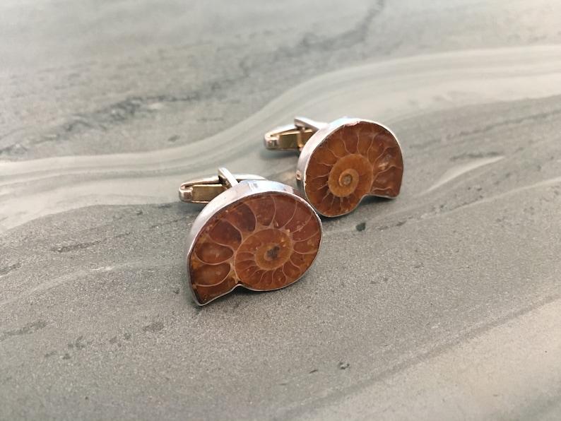 Osprey handmade ammonite cufflinks