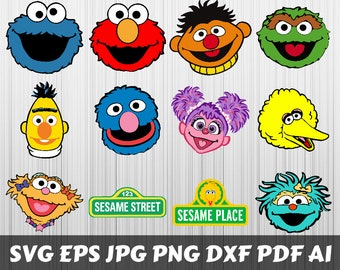 graphic relating to Printable Sesame Street Characters named Sesame road clip Etsy