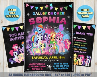 My Little Pony Invitation Invite Birthday Party Printable Card
