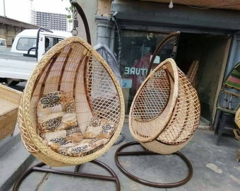 Rattan Hanging Chair   Etsy