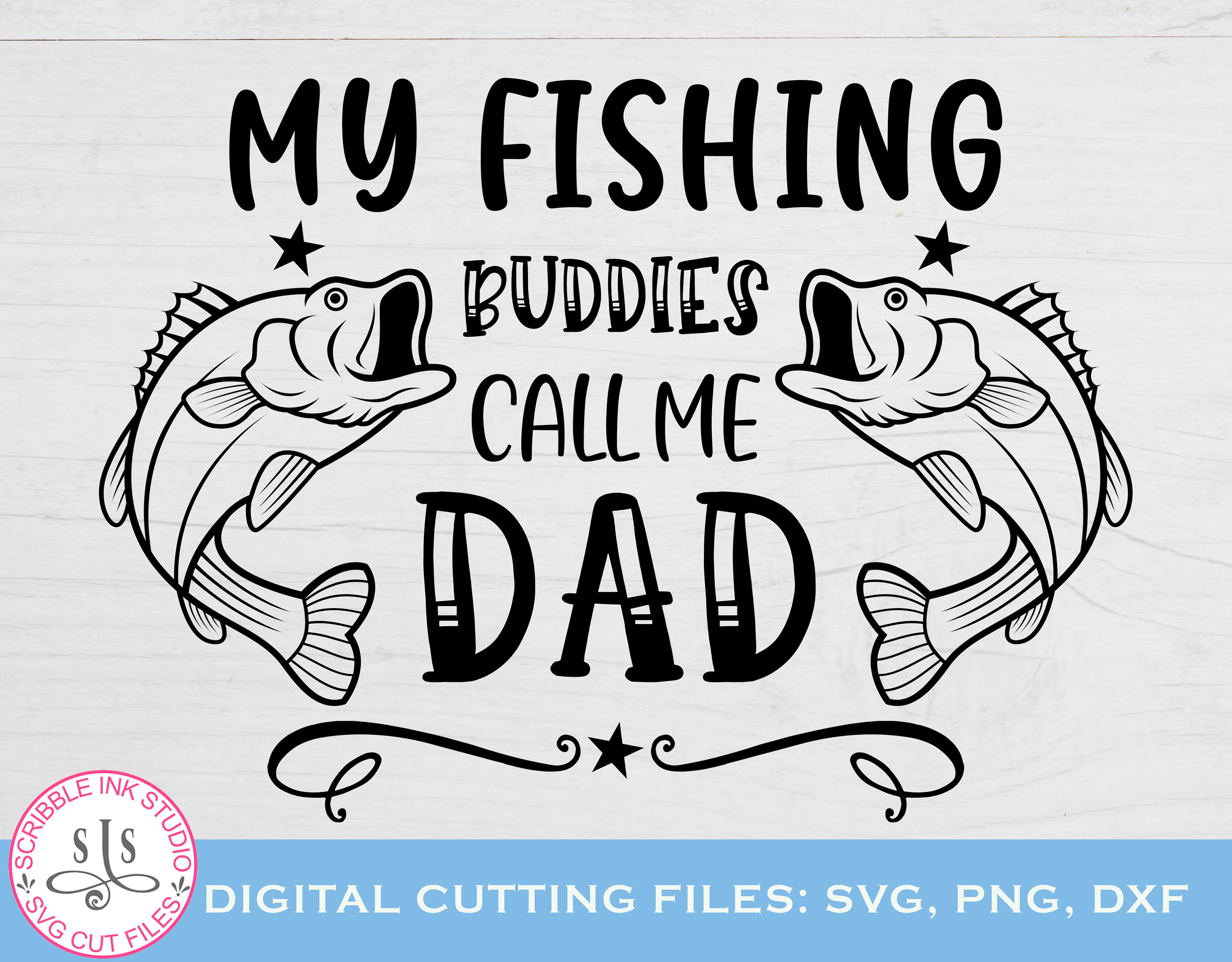Download My Fishing Buddies Call Me Dad Svg Fathers Day Shirt Fishing Etsy