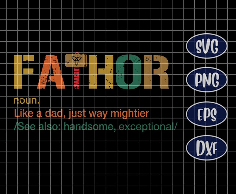 Fa Thor Like Dad Just Way Mightier Hero Funny Svg Etsy