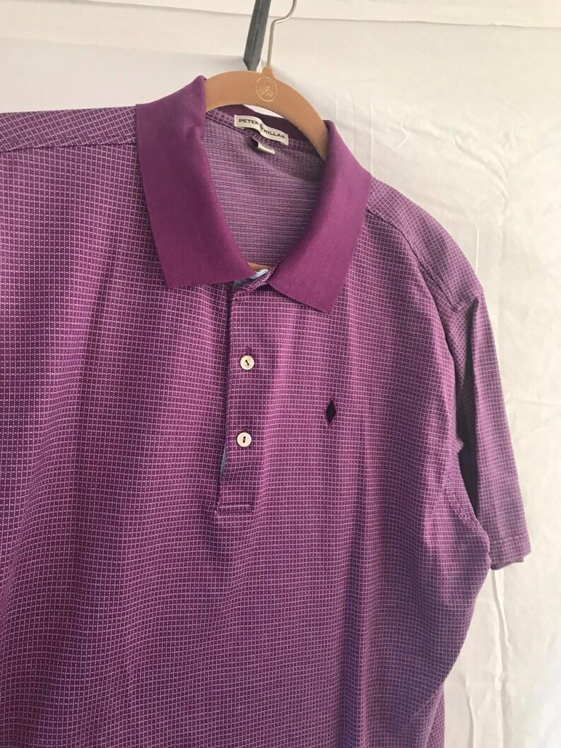 84869a5ff32ed Peter Millar golf polo shirt vintage purple sz XL