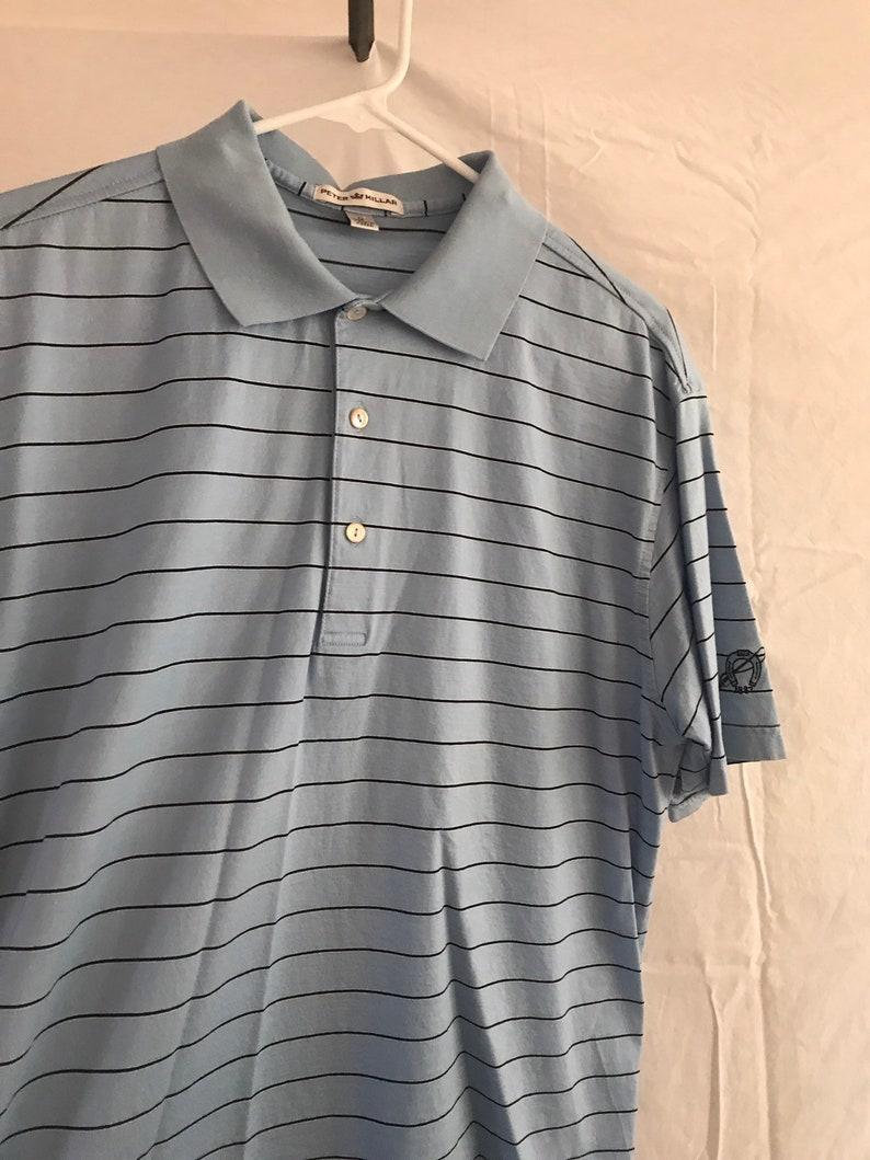 c0683ff934172 Peter Millar blue polo shirt sz M vintage