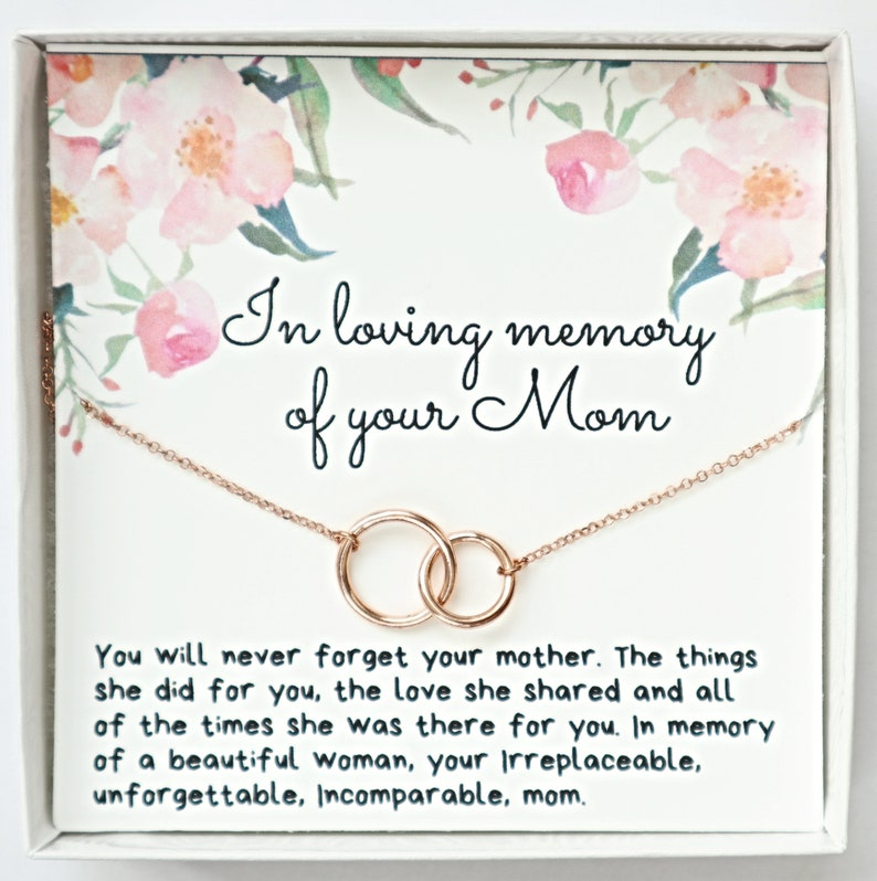 YG Grief Gift for Loss of Mom Sympathy Gift Loss of Mother Memorial Necklace Sterling Silver Gold In Memory of Mom Necklace Gift Jewelry