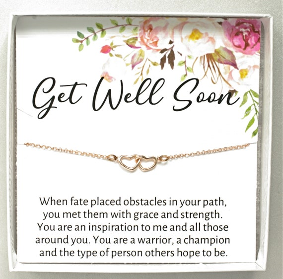 0448 Thinking Of You Charm Bracelet Silver 925 Speedy Recovery Unwell Sick Friend Quote Gift Wish