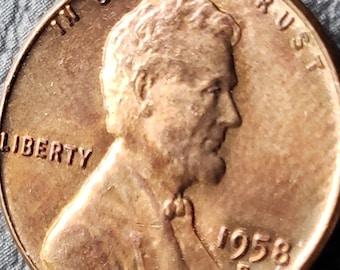 1958 d wheat penny | Etsy