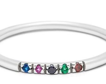 d650f5701 Birthstone Ring Family Amethyst Aquamarine Dainty Ring Diamond Ring Gold  Ring Pandora Birthstone Ring Birthstone Gifts Mothers Jewelry