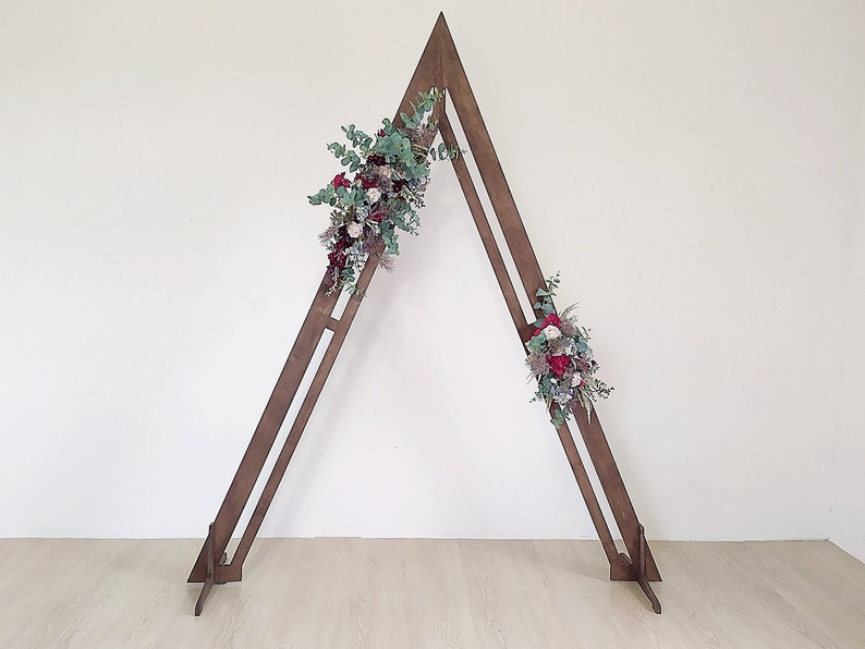 Triangle wedding arch wooden arch wedding backdrop outdoor image 0