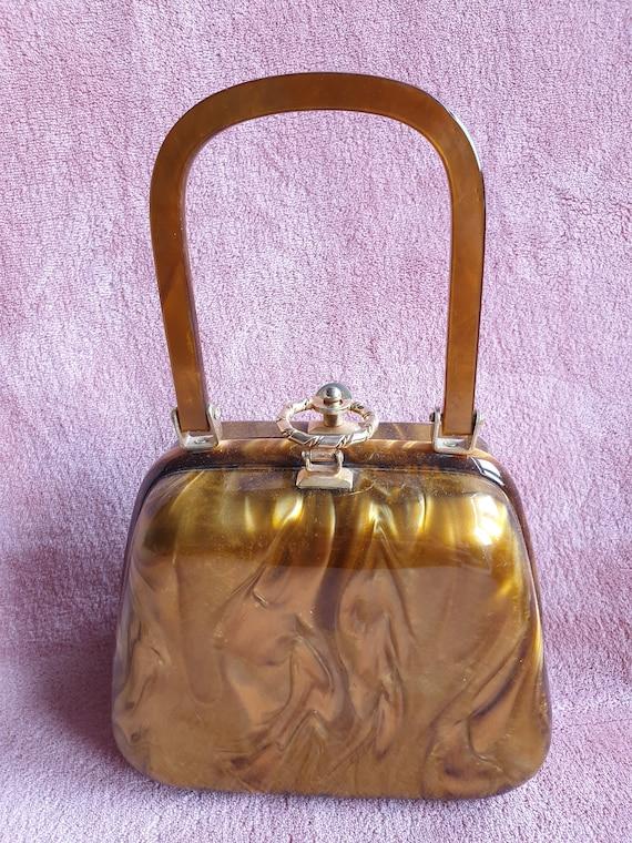 Stylecraft Miami Lucite handbag/box bag