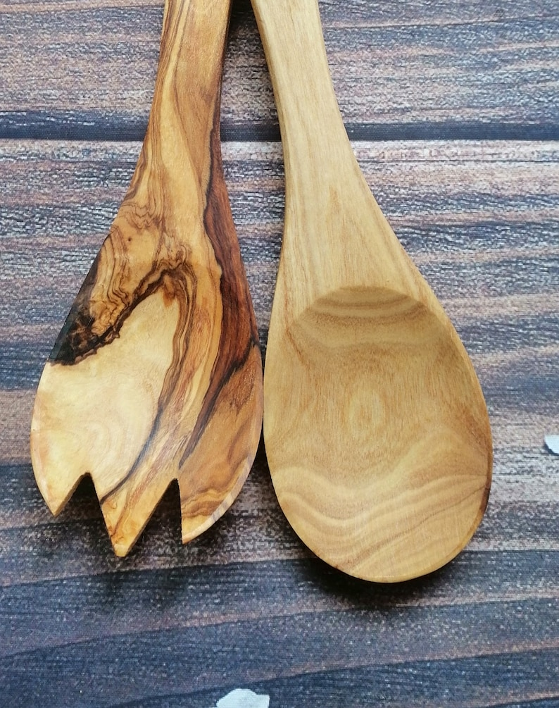 Christmas gift wooden fork wooden salad utensil wood spoon Serving Set kitchen tools,gift for him,gift for her