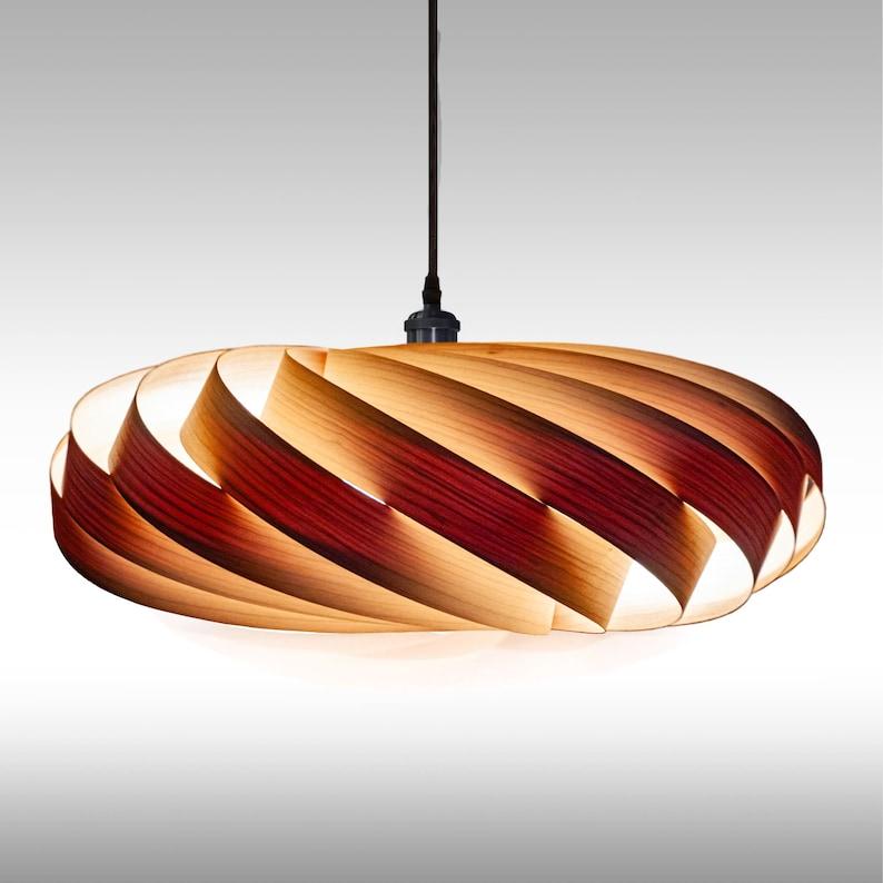 Pendulum wood lamp from American cherry tree veneer design dining table lamp