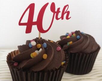 20 13th Anniversaire Papier de Riz comestible Cup Cake Toppers,