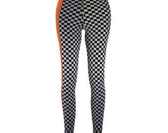 2265d4a929b12 Short Track Saturday Night Checkered Flag Women's Leggings