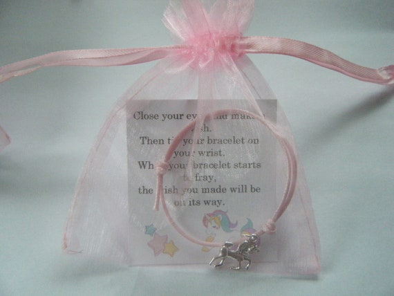 6 Unicorn Friendship Bracelets With Organza Gift Bags Favours Gifts Hen Party