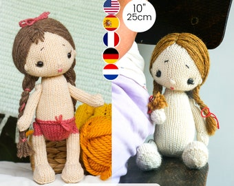 Knitting Pattern for Baby Doll - 10 inches tall