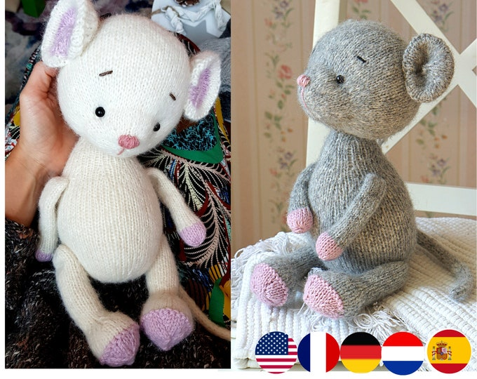 Toy knitting pattern for mose (13 inches tall)