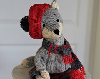 Christmas Mister Wolf - Toy by Polushkabunny