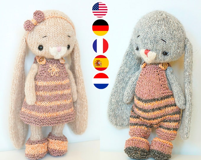 Toy clothes knitting patternы for 10 inches toys - Basic Little Clothes