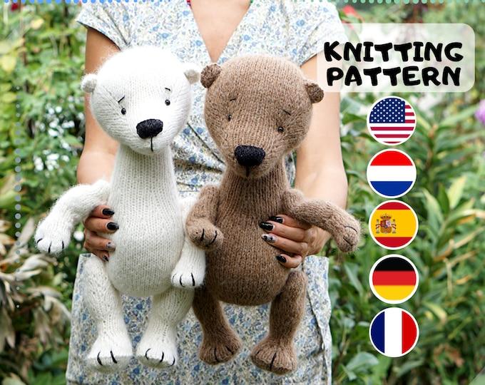 Toy knitting pattern for teddy bear