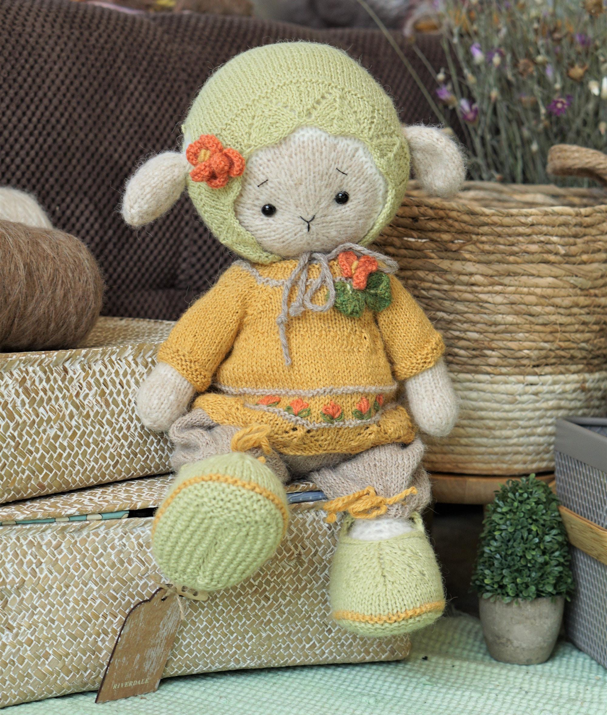 Doll clothes toy knitting pattern PDF Animal knitting ...