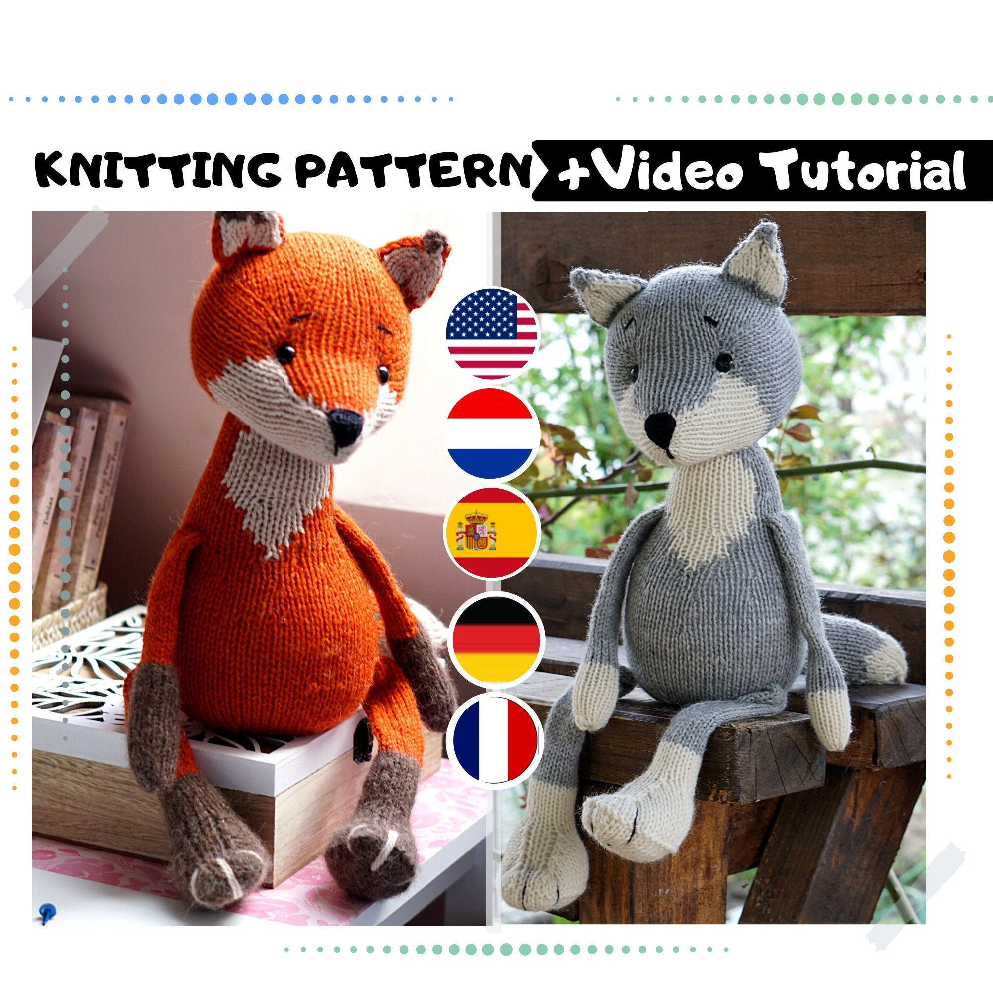 Crochet wolf - crochet fox - amigurumi wolf - amigurumi fox ...   2000x2000