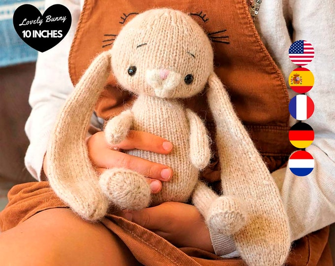 Little bunny Knitting Pattern (10 inches tall) - Toy Knitting Pattern
