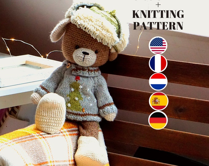 Toy clothes knitting and crochet pattern