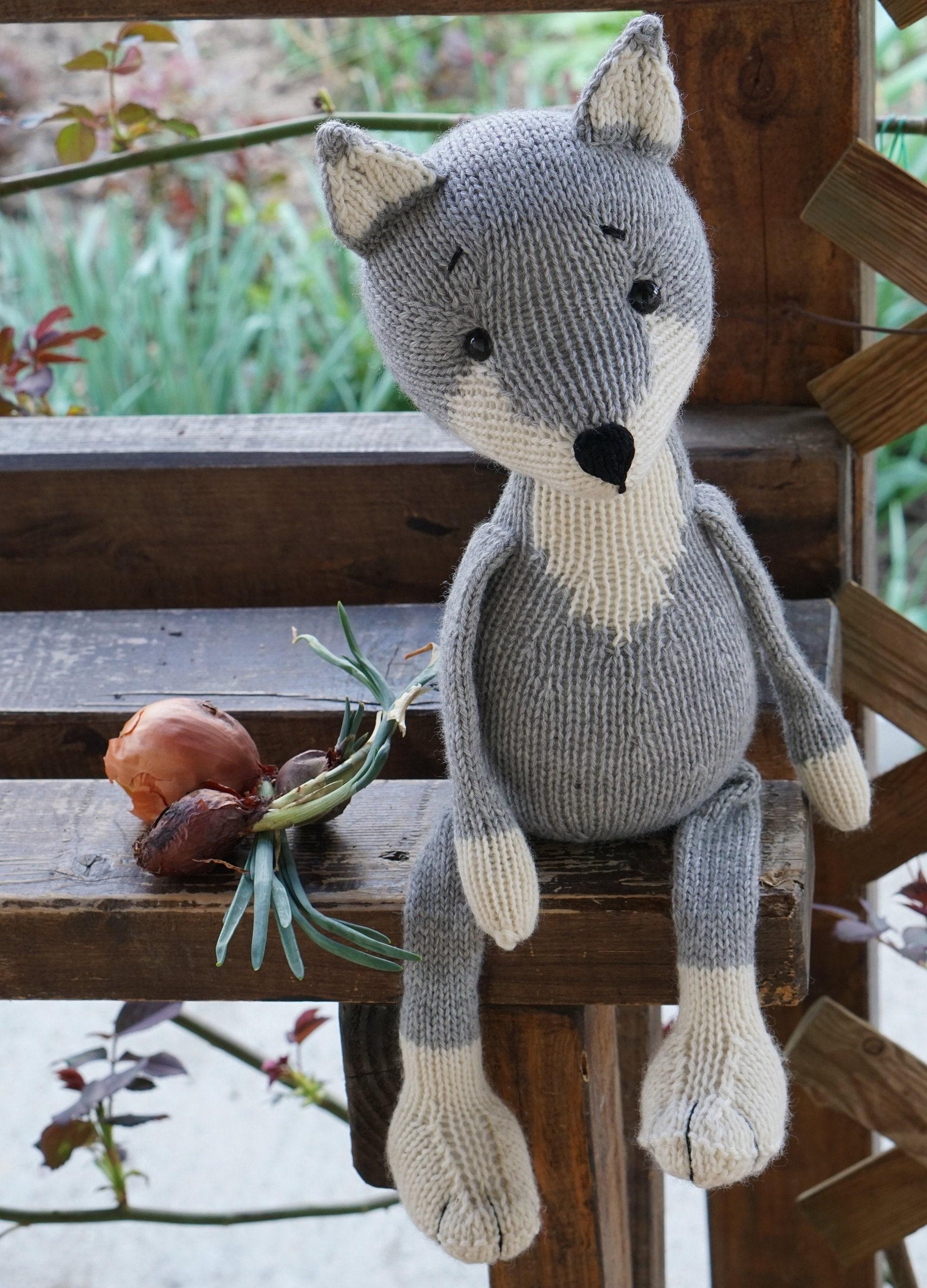 Fox Wolf Knitting pattern knitted toy patterns pdf ...