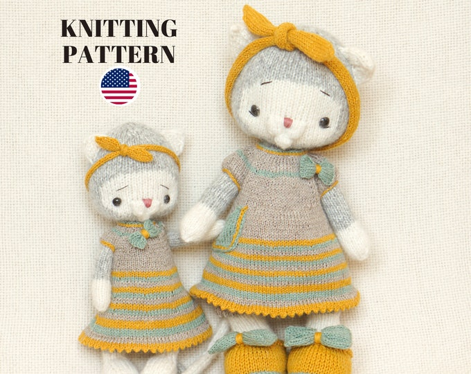Knitting Toy Patterns / SET /  Knitted Toys and Toy Clothes Patterns -Polushkabunny