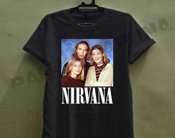 ddf2da07 the hanson brothers x nirvana music grunge parody hipster joke 90s vintage  old school pop culture shirt tshirt clothing unisex adult av10