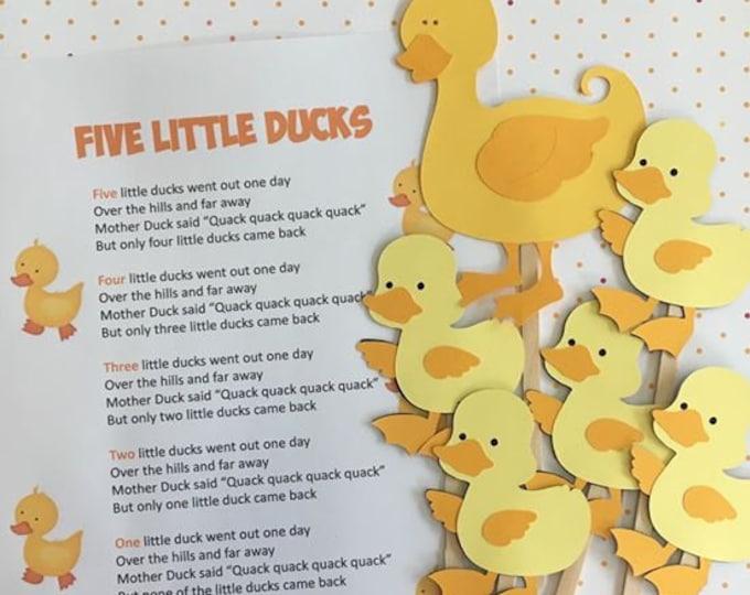 Five Little Ducks Puppet / Felt Board Set
