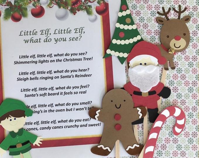 Little Elf, Little Elf Puppet / Felt Board Set