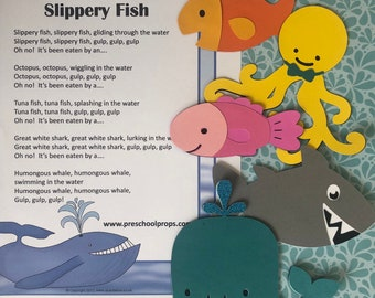 Slippery Fish Puppet / Felt Board Set