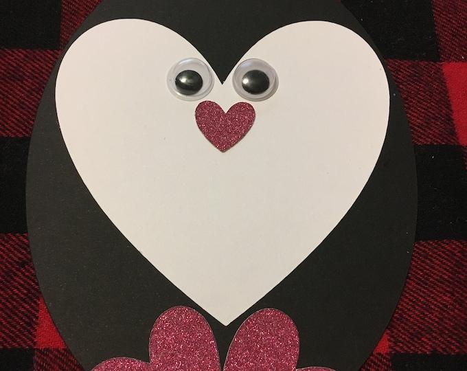 6 Penguin Valentine Crafts / Cards