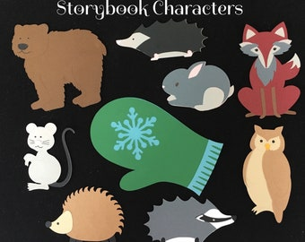 The Mitten Storybook Character Props