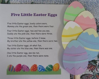 Five Little Easter Eggs Puppet / Felt Board Set