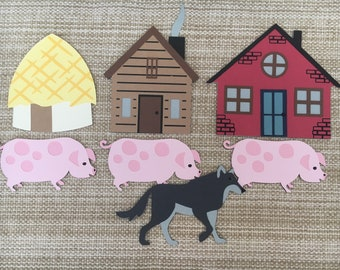 Three Little Pigs Puppet / Felt Board Set