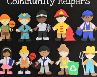 Community Helpers Puppet / Felt Board Set