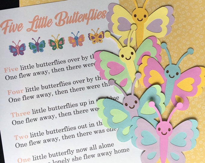 Five Little Butterflies / Felt Board Set